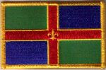 Lincolnshire Embroidered Flag Patch, style 08.